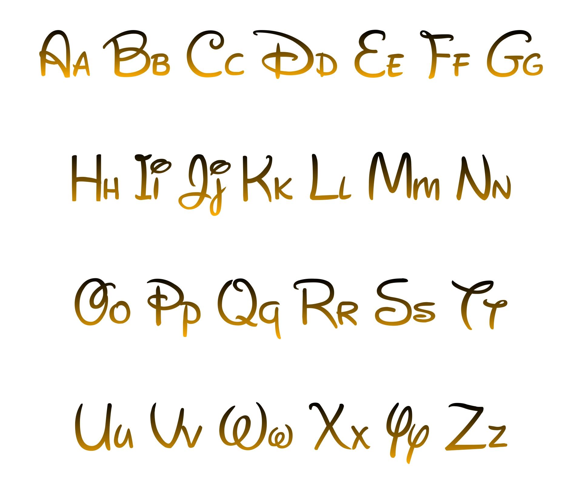 Disney Font Letter Printables