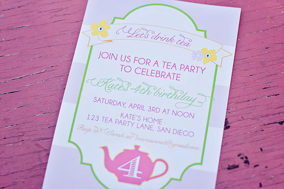 5 Images of Garden Party DIY Printable