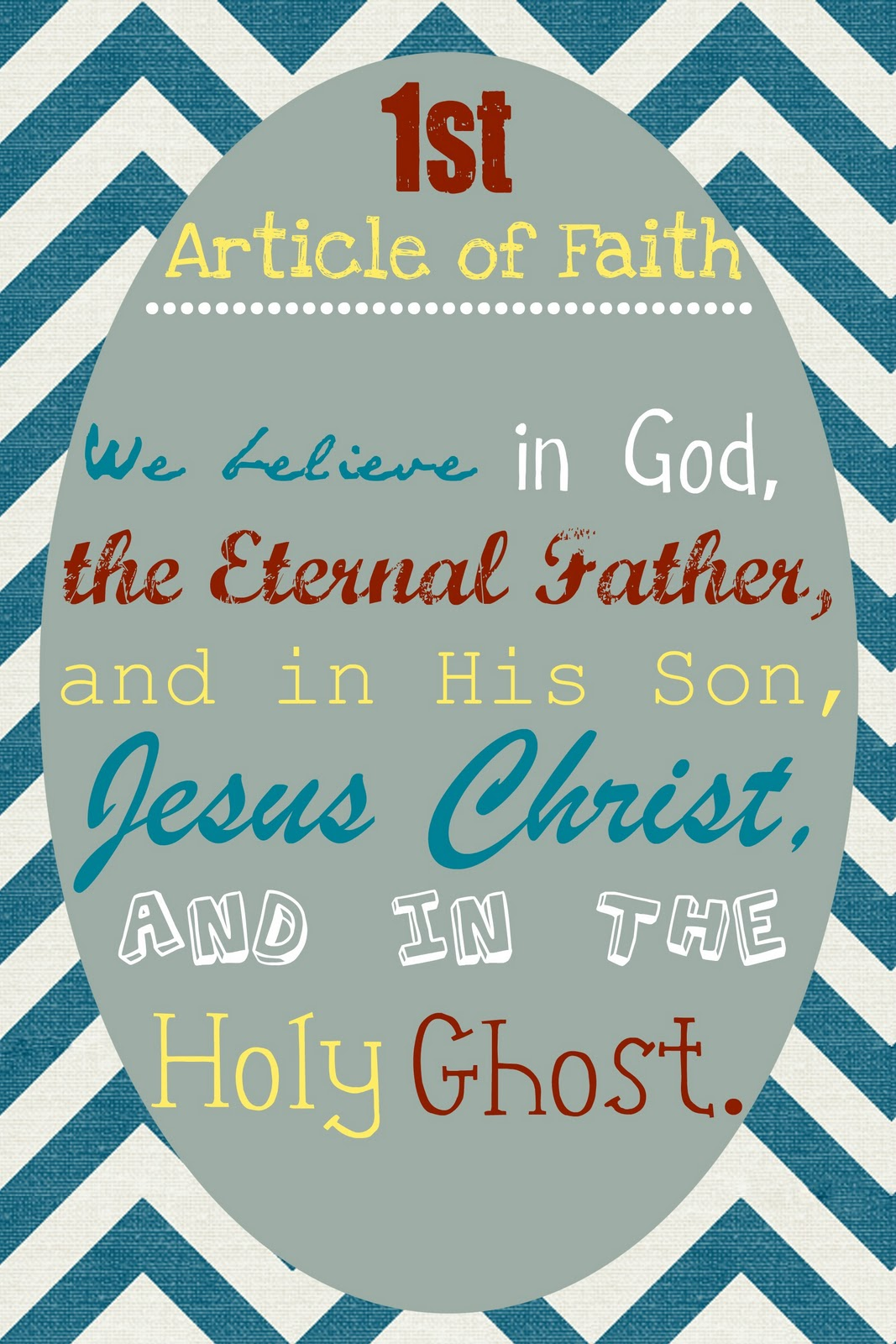 7 Images of 1st Article Of Faith Printable