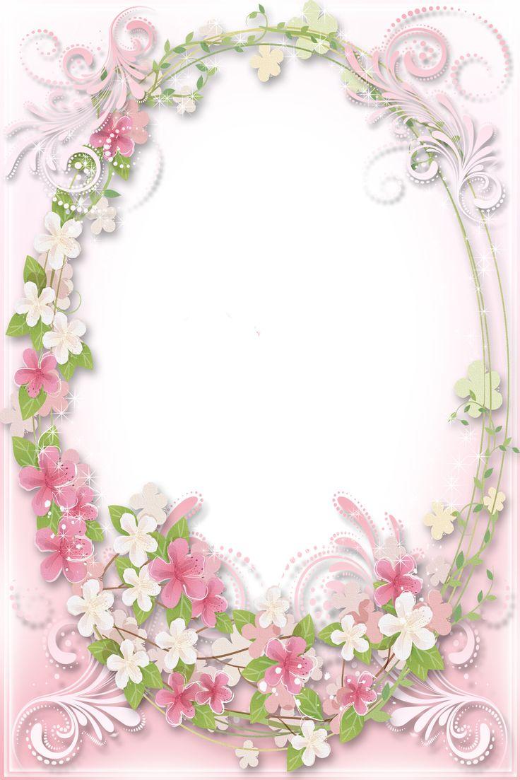 4 Images of Printable Pink Flower Frame