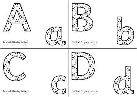 7 Images of Free Printable Display Letters