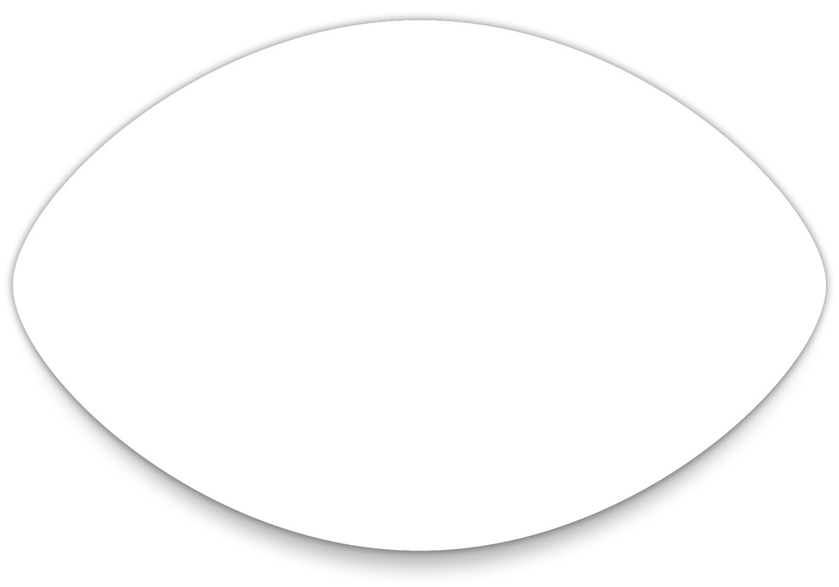 football cutout template - 5 best images of football shaped template printable free