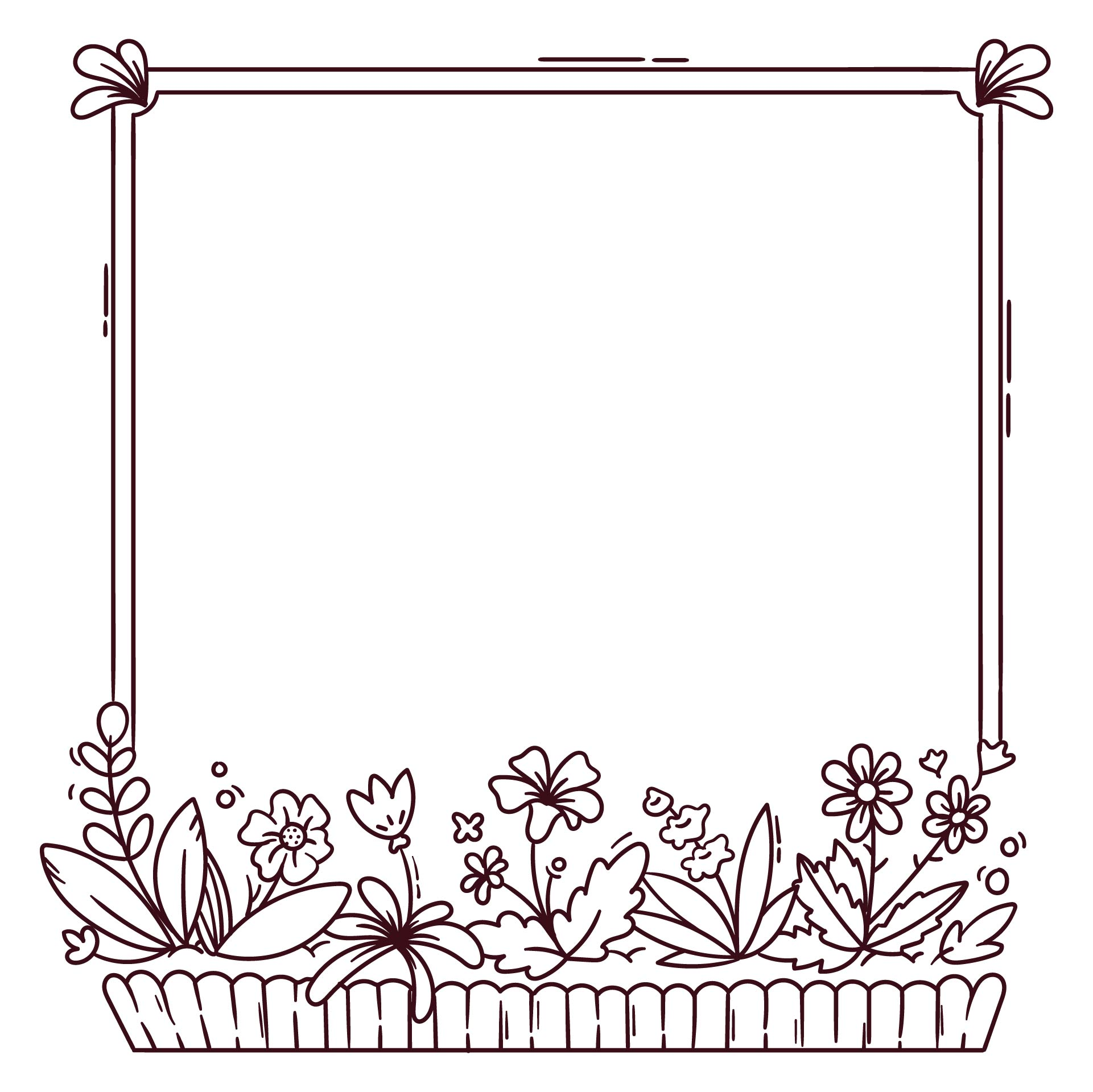Frame Coloring Pages