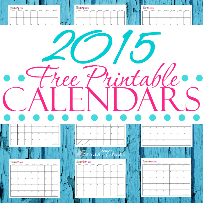 6 Images of Editorial Calendar 2015 Printable