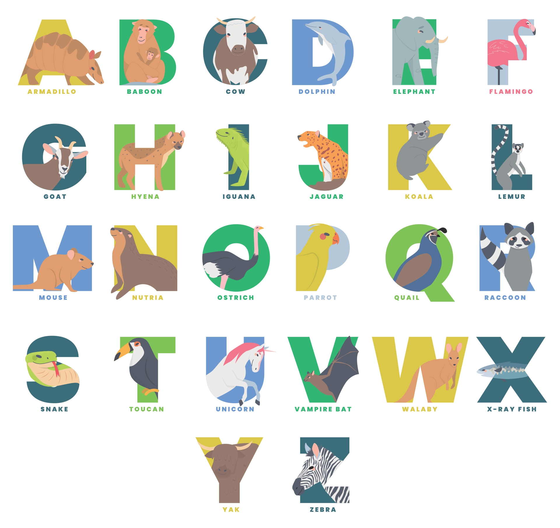 Printable Alphabet Letters Poster