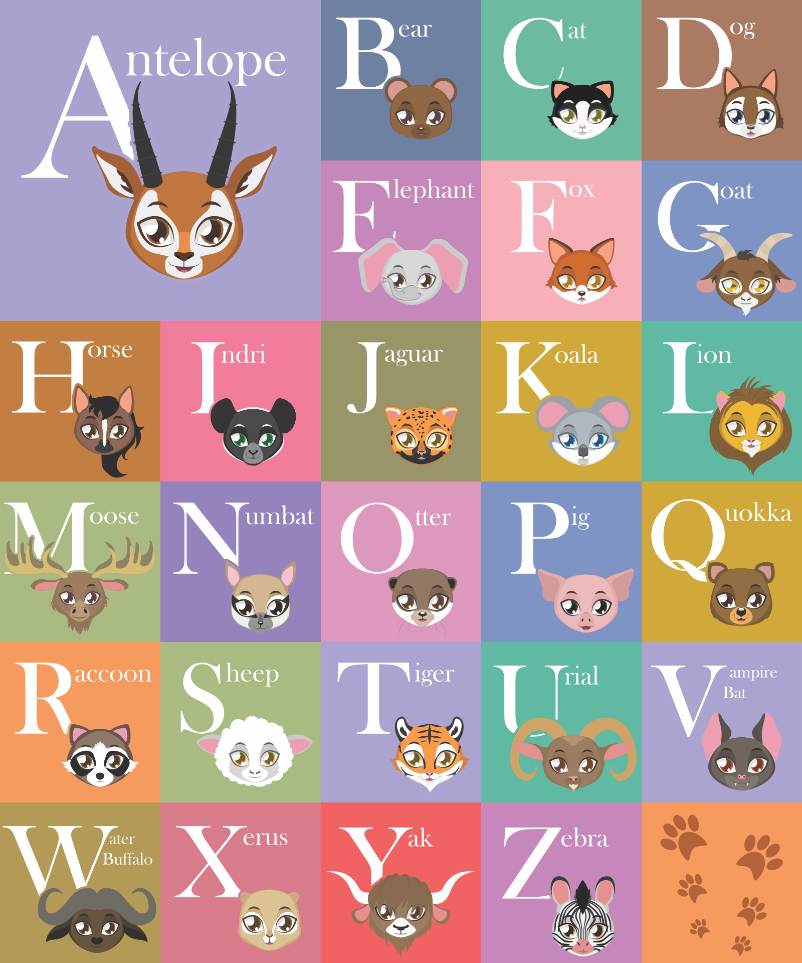 Printable Alphabet Wall Letters