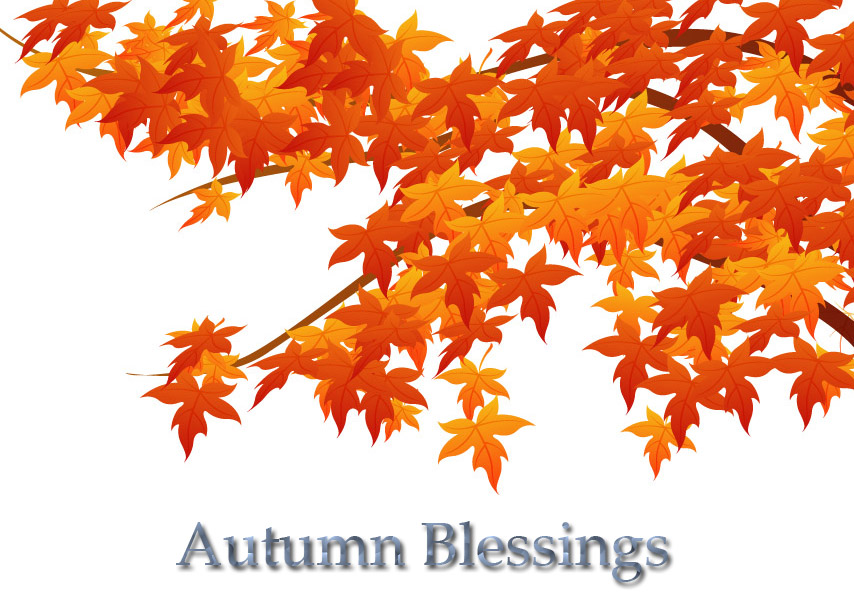 4 Images of Printable Fall Greeting Cards