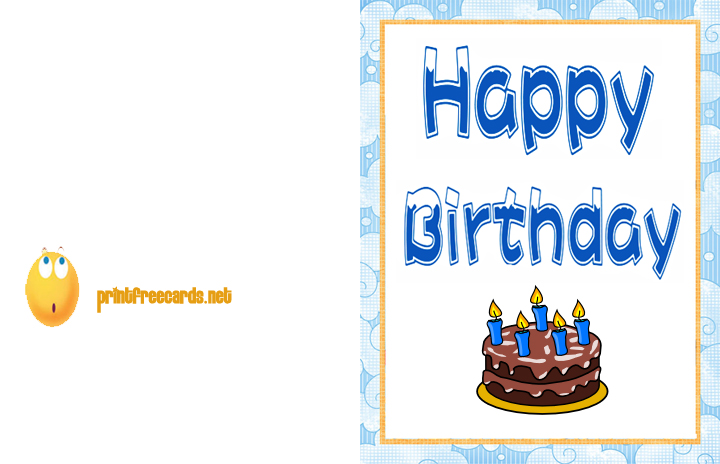 Selective image within printable birthday cards for boys