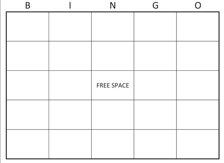 7 Images of Large Printable Blank Bingo Card