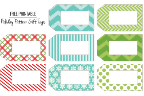 5 Images of Cute Free Printable Gift Tags