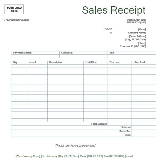 5 Images of Credit Card Sales Receipt Forms Templates Printable Free