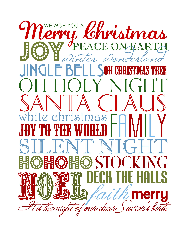 7 Images of Christmas Subway Art Printable