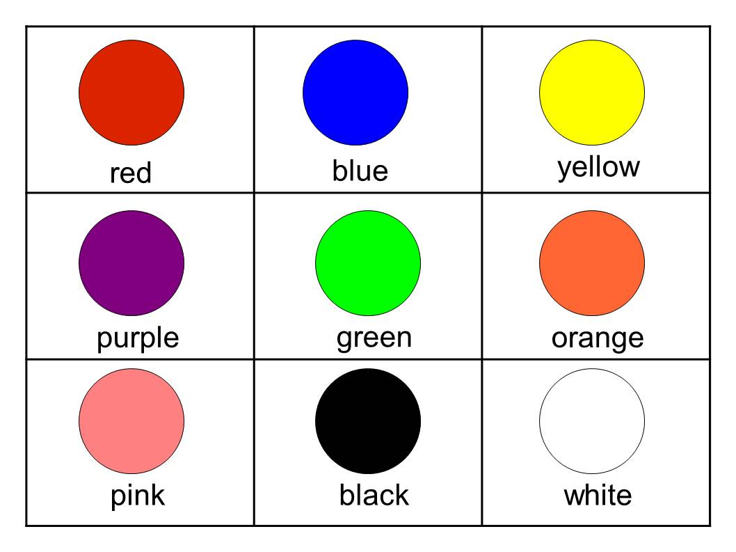 5 Images of Large Printable Color Flash Cards