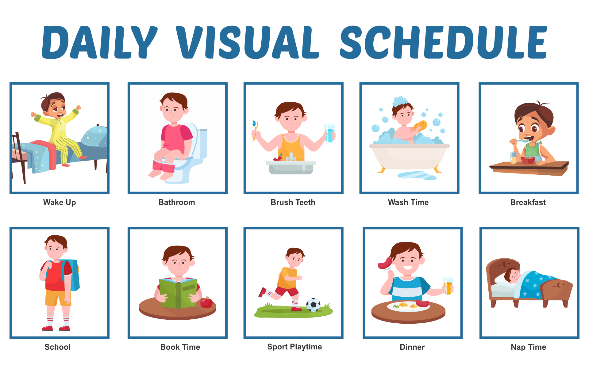 Printable Daily Routines Visual Schedules