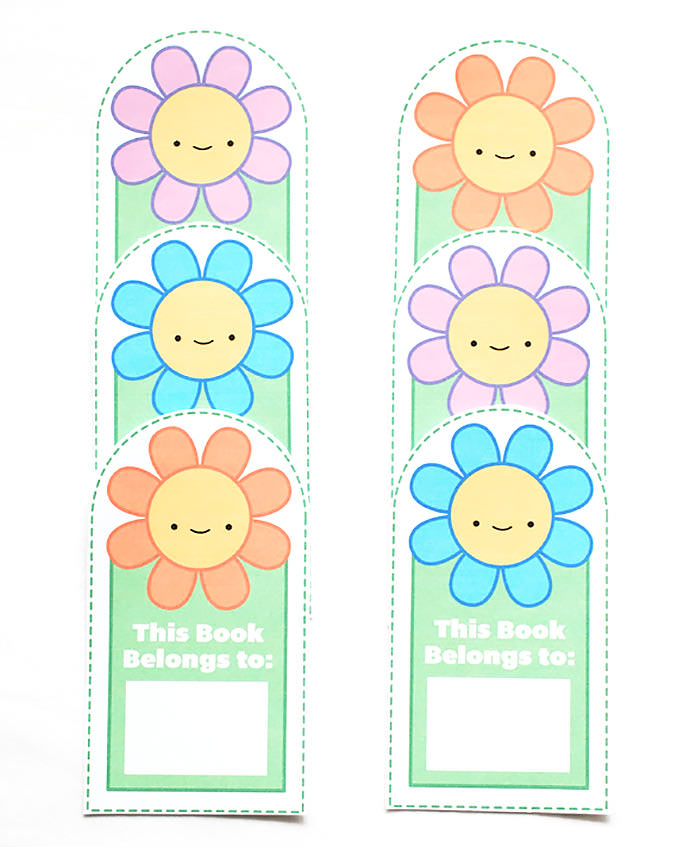 8 Images of Printable Flower Bookmarks