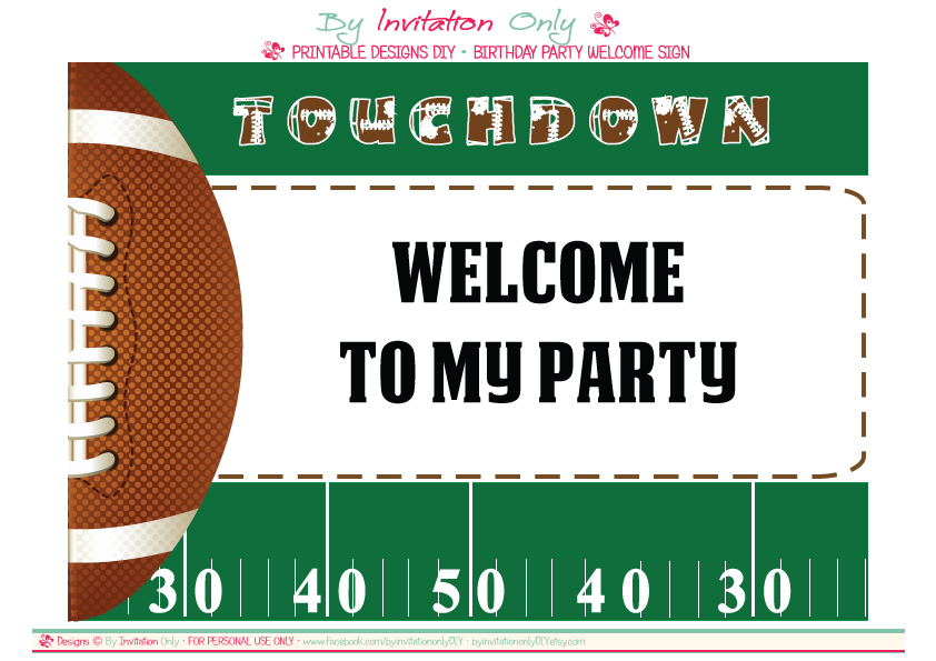 Free Printable Football Party Invitation