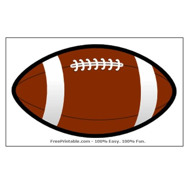 5 Images of Football Shaped Template Printable
