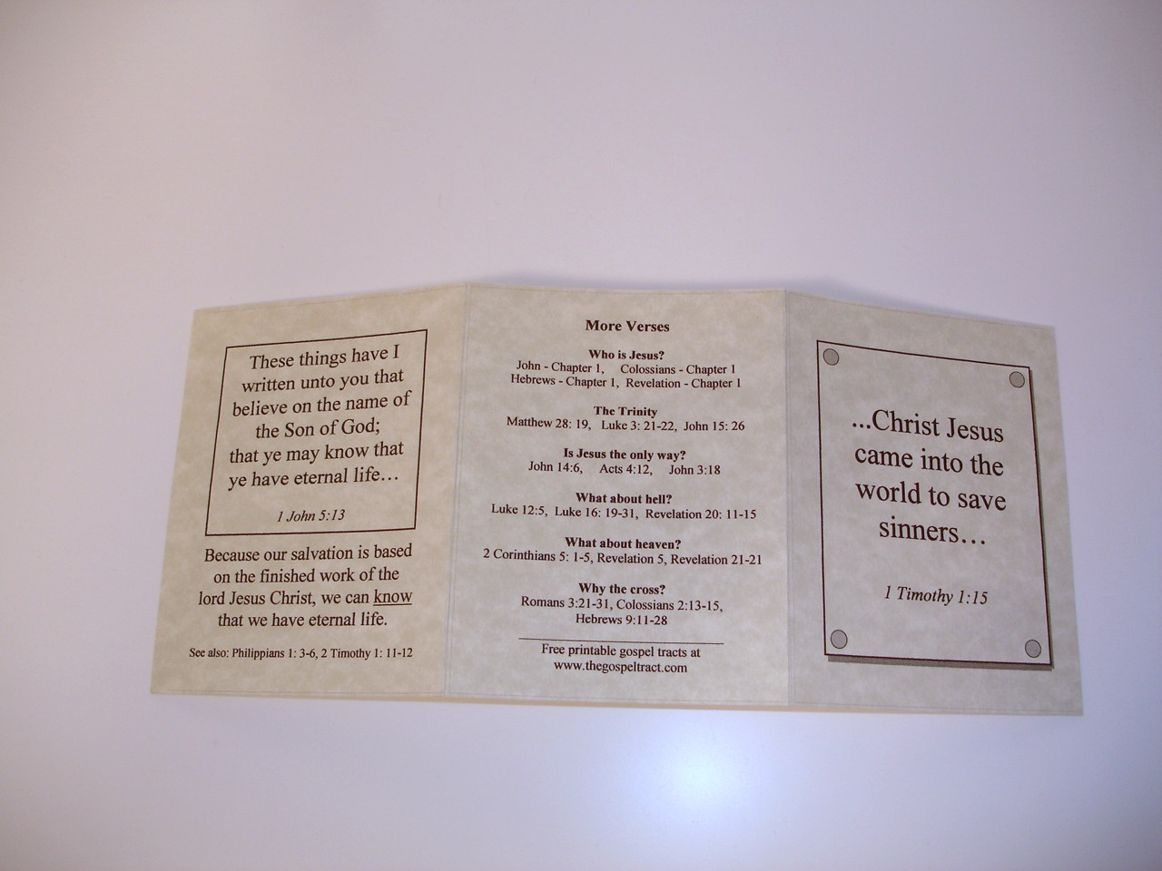 5 Images of Gospel Tracts Printable PDF