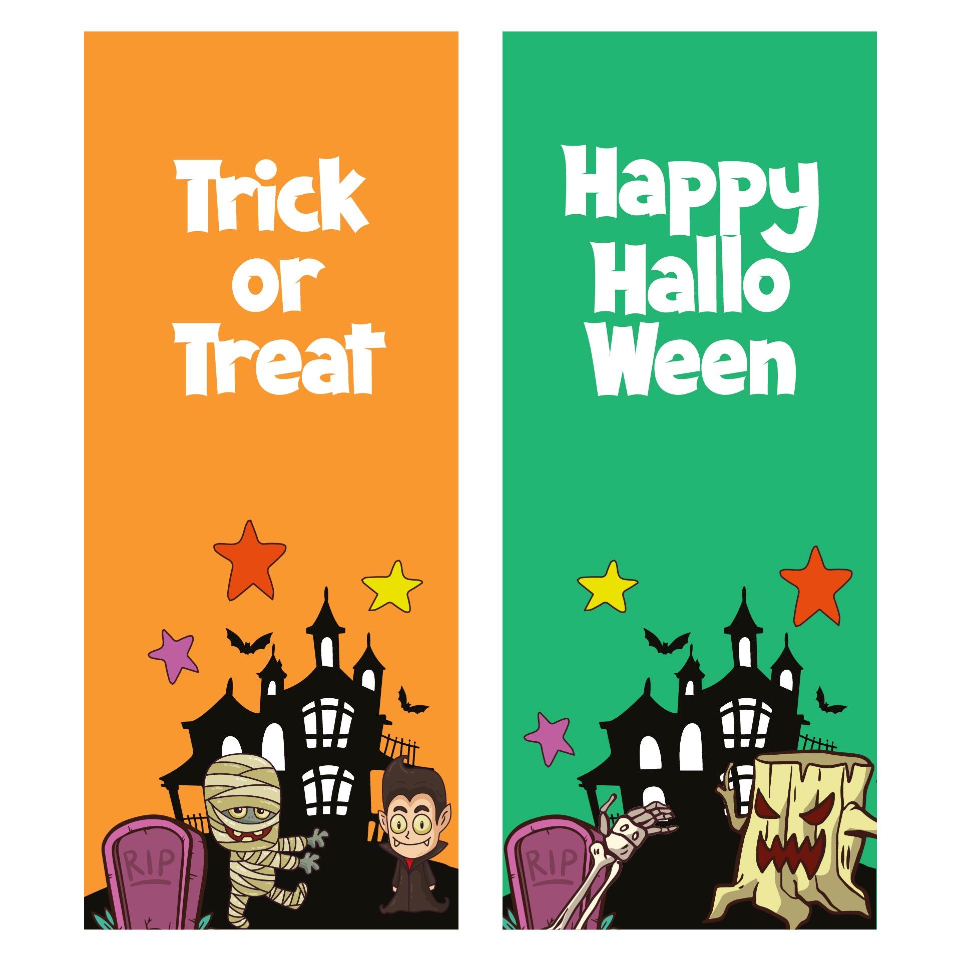 Printable Halloween Bookmarks
