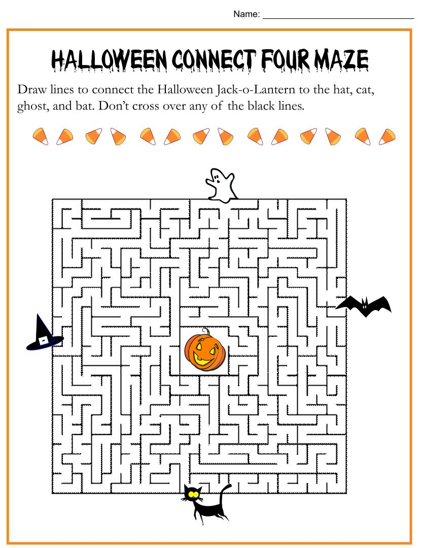 Free Printable Halloween Mazes