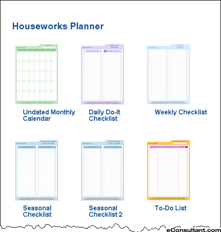 6 Images of Free Household Printable Pages