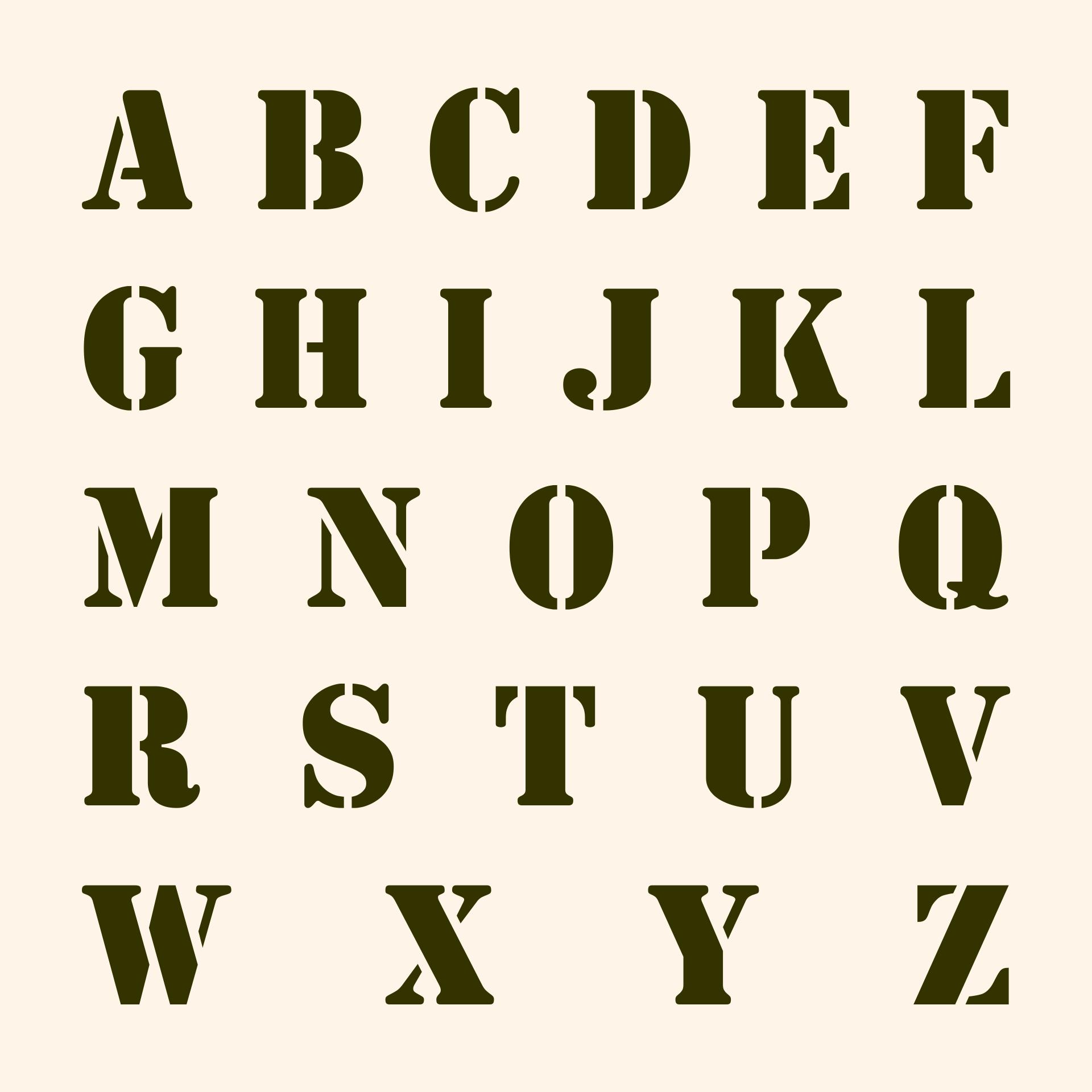 Printable Letter Stencils Font
