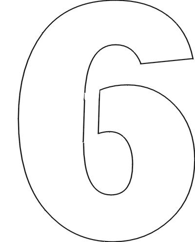 Number Names Worksheets number 1 template printable : 6 Best Images of 6 Printable Number 1 Stencil - Number 6 Stencil ...
