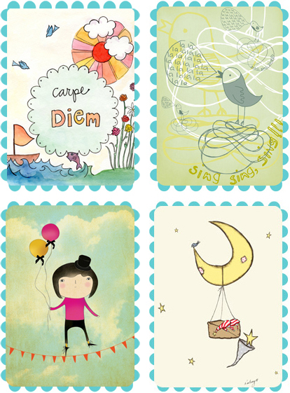 5 Images of Free Printable Whimsical Art