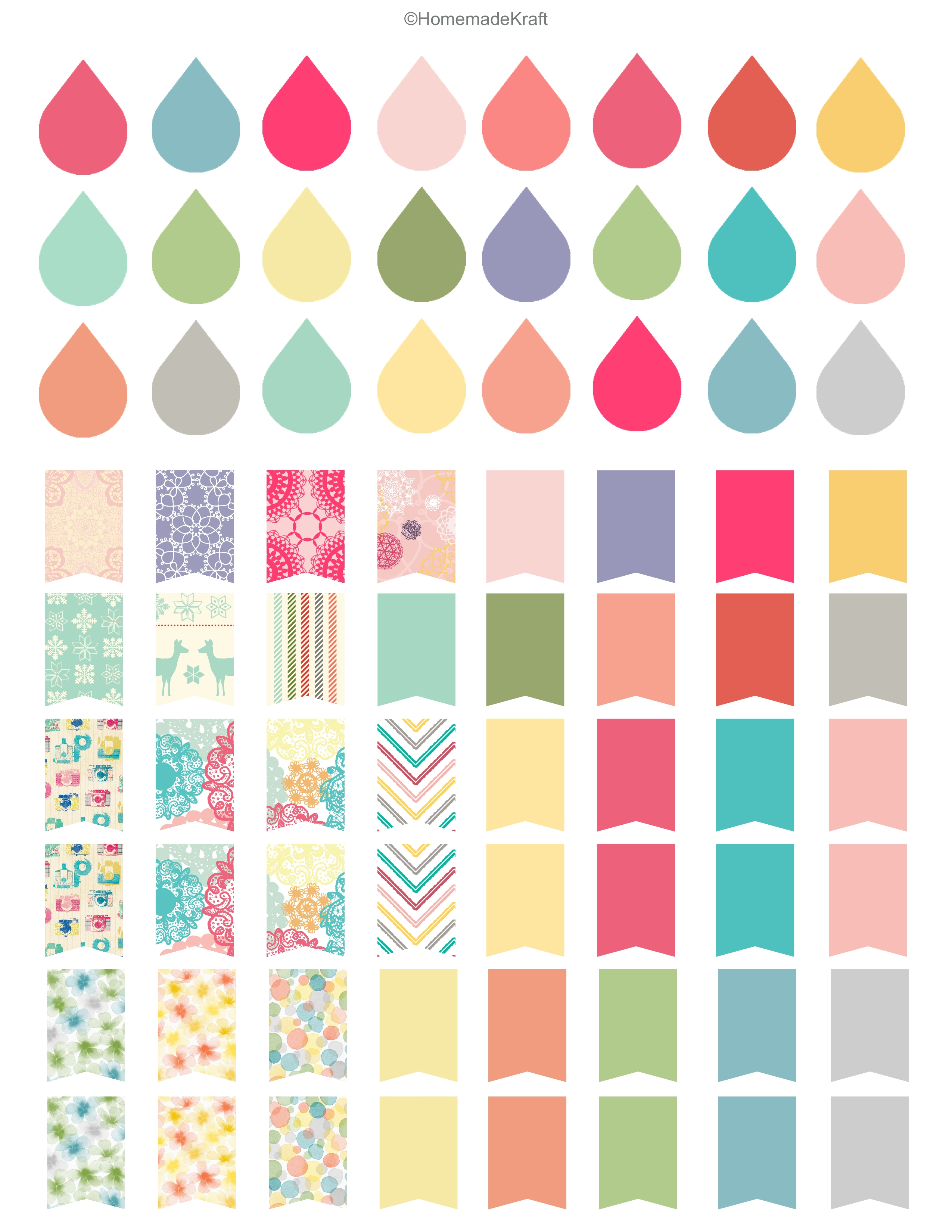 7 Images of Free Printable Planner Sticker Sheets