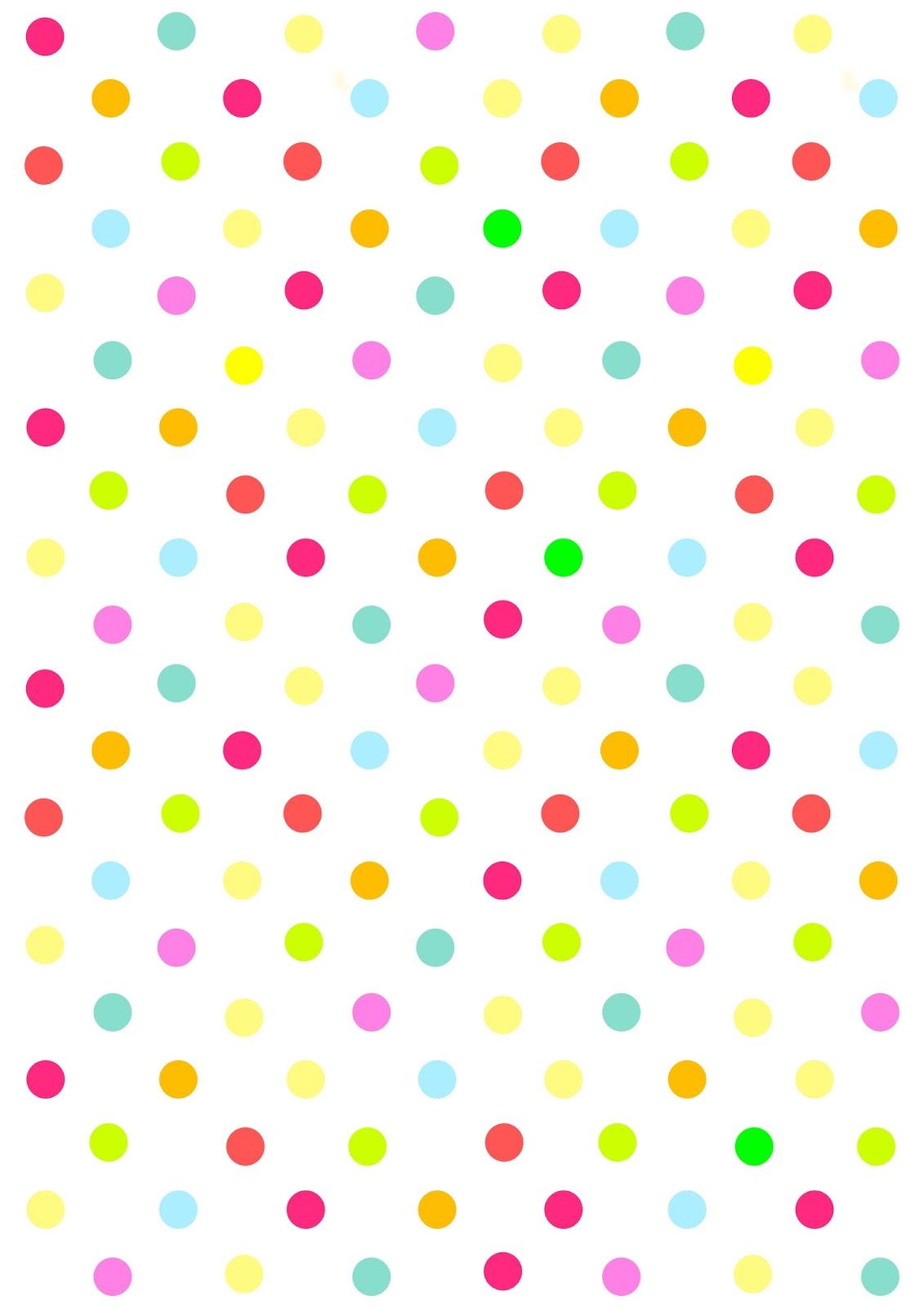 7 Images of Free Printable Polka Dot Pattern Paper