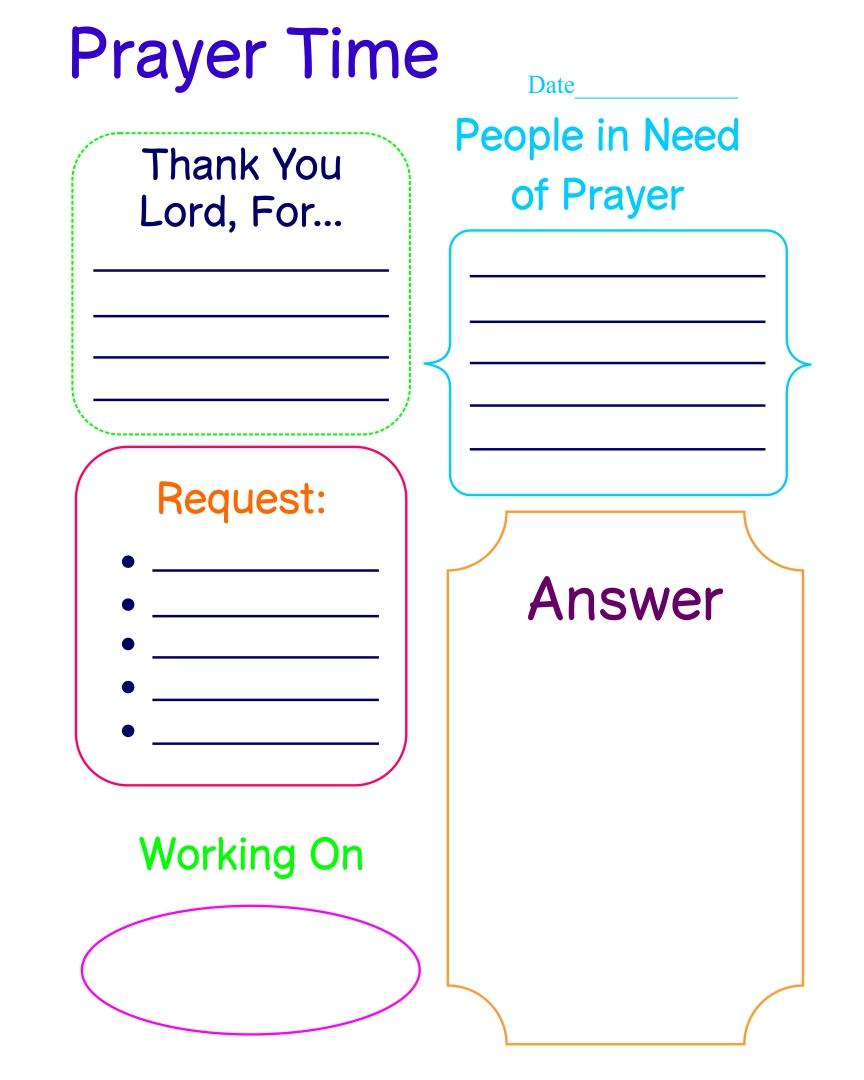 Free Printable Prayer Journal Page