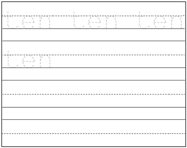 Free printable pre k writing worksheets