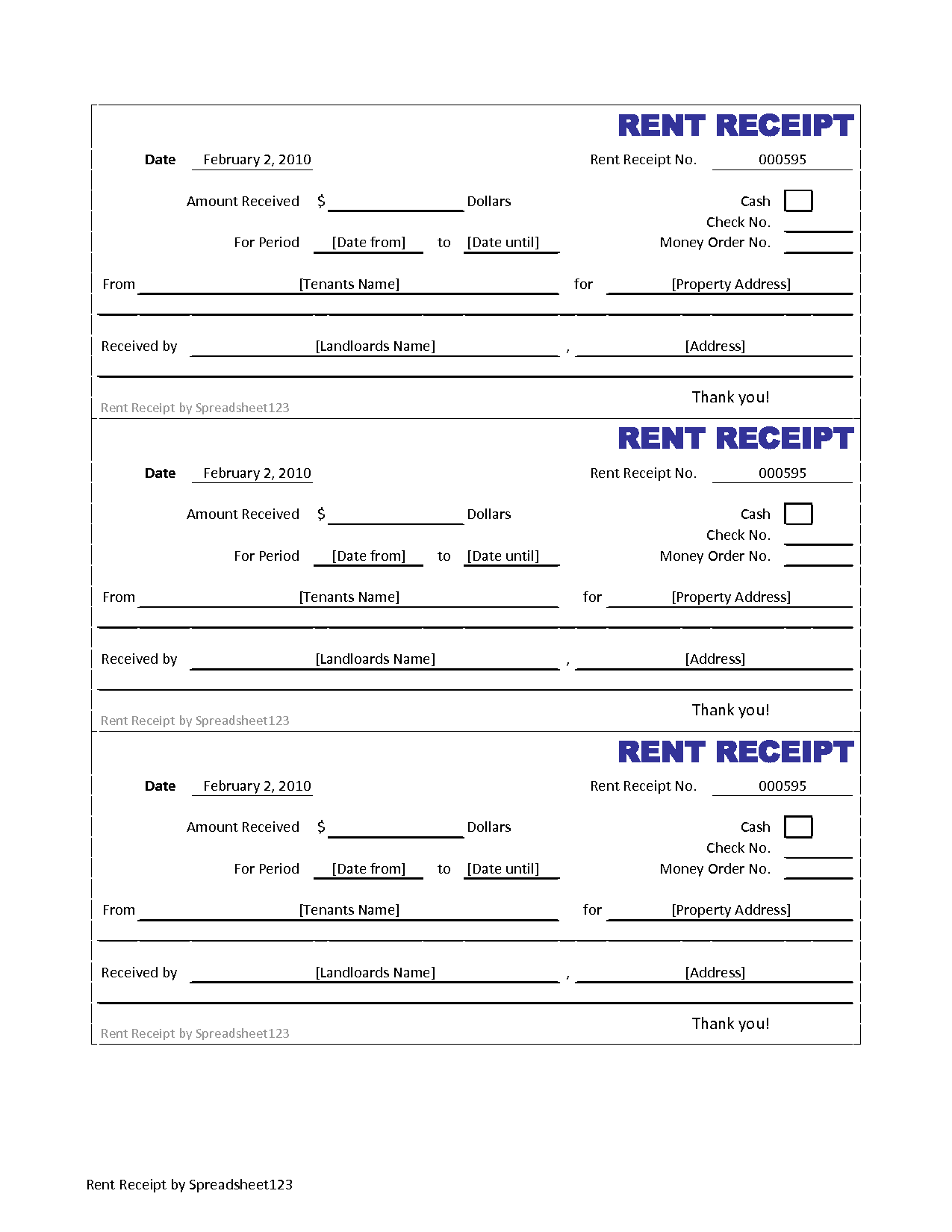 5 best images of credit card sales receipt forms templates for Free rent receipt template