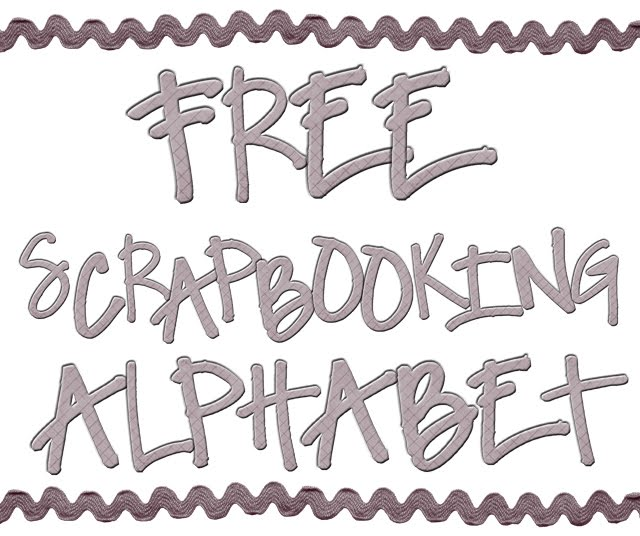 5 Images of Free Printable Scrapbooking Letters