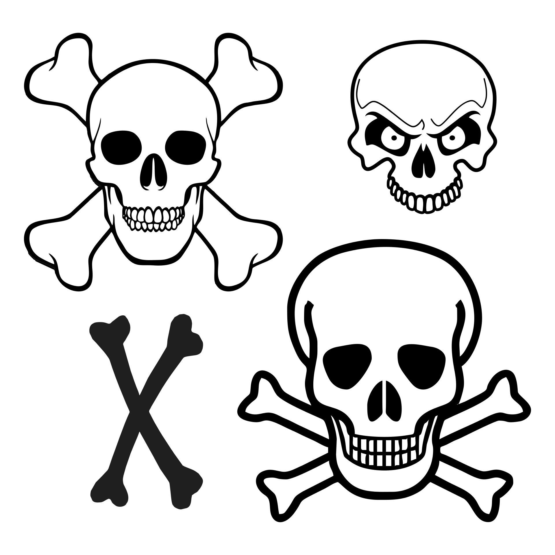 Printable Skull and Crossbones
