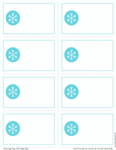 7 Images of Printable Snowflake Gift Tags
