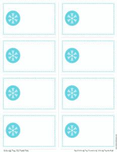 7 Images of Printable Snowflake Gift Tags