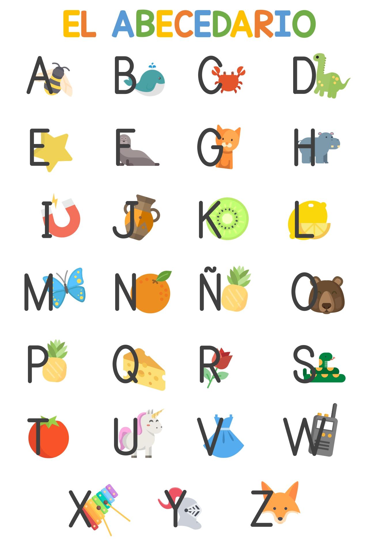 Printable Spanish Alphabet