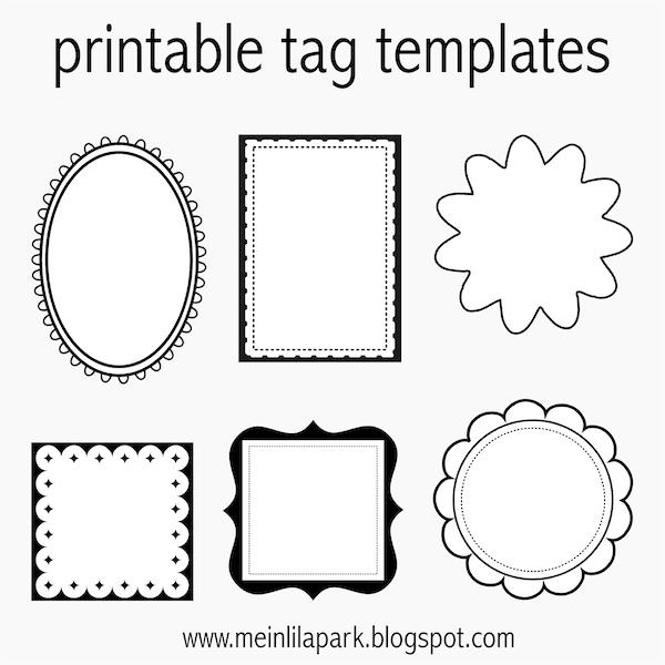 Printable Blank Gift Tags Template, Free Printable Wedding Favor Tags ...
