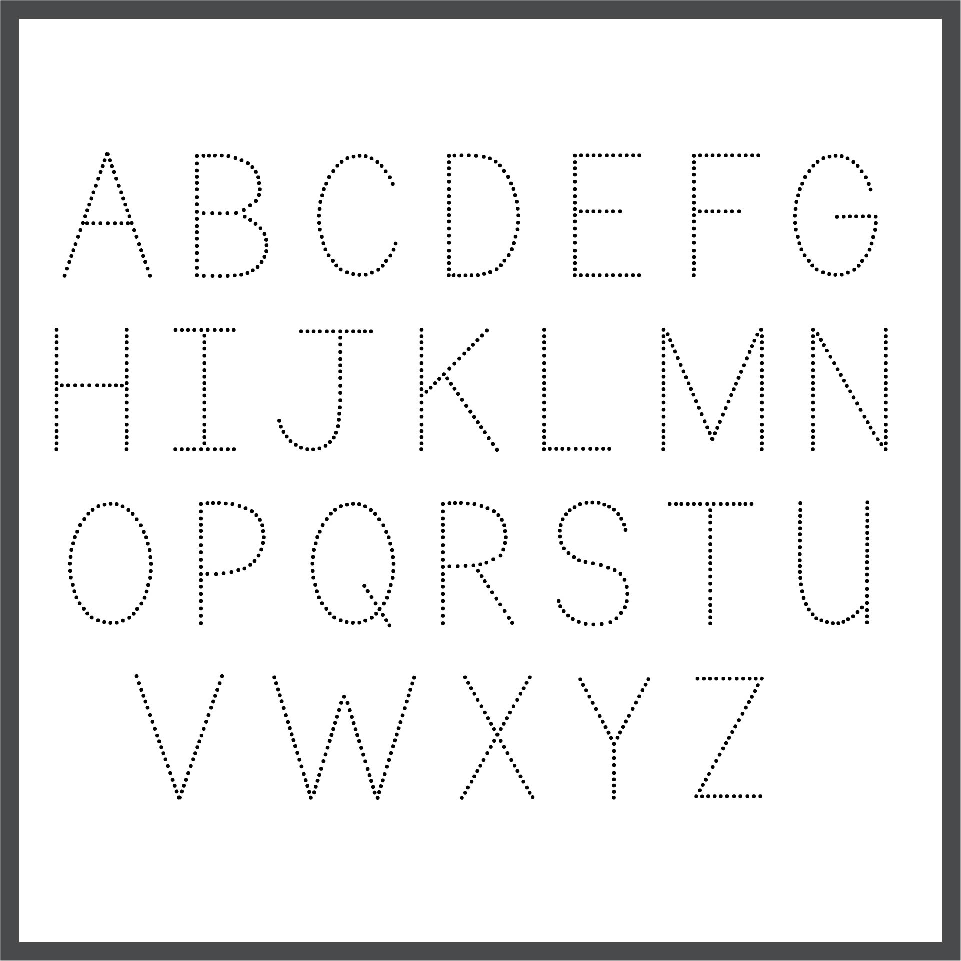 Free Printable Traceable Alphabet Letters