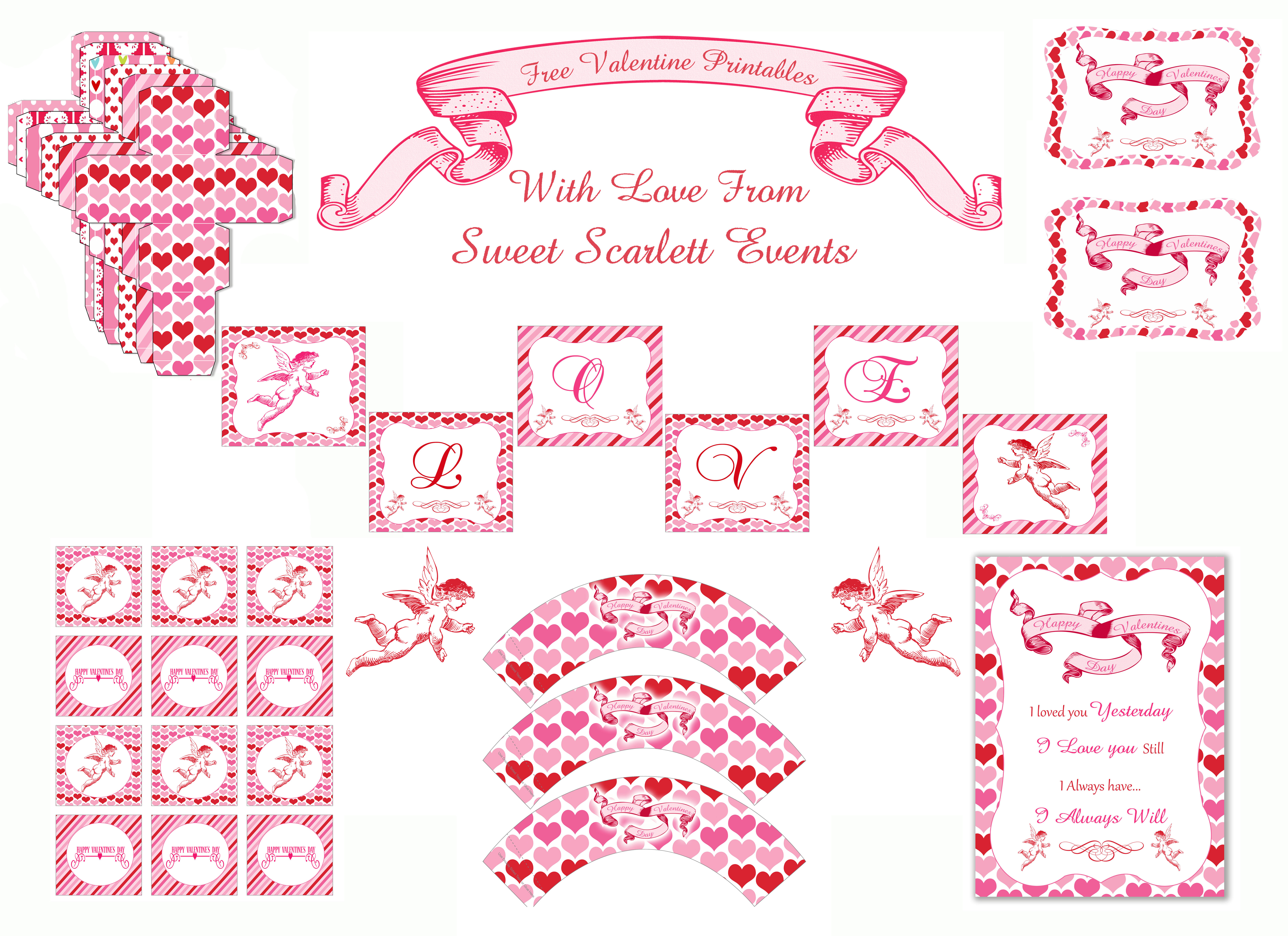 6 Images of Valentine's Day Free Printables