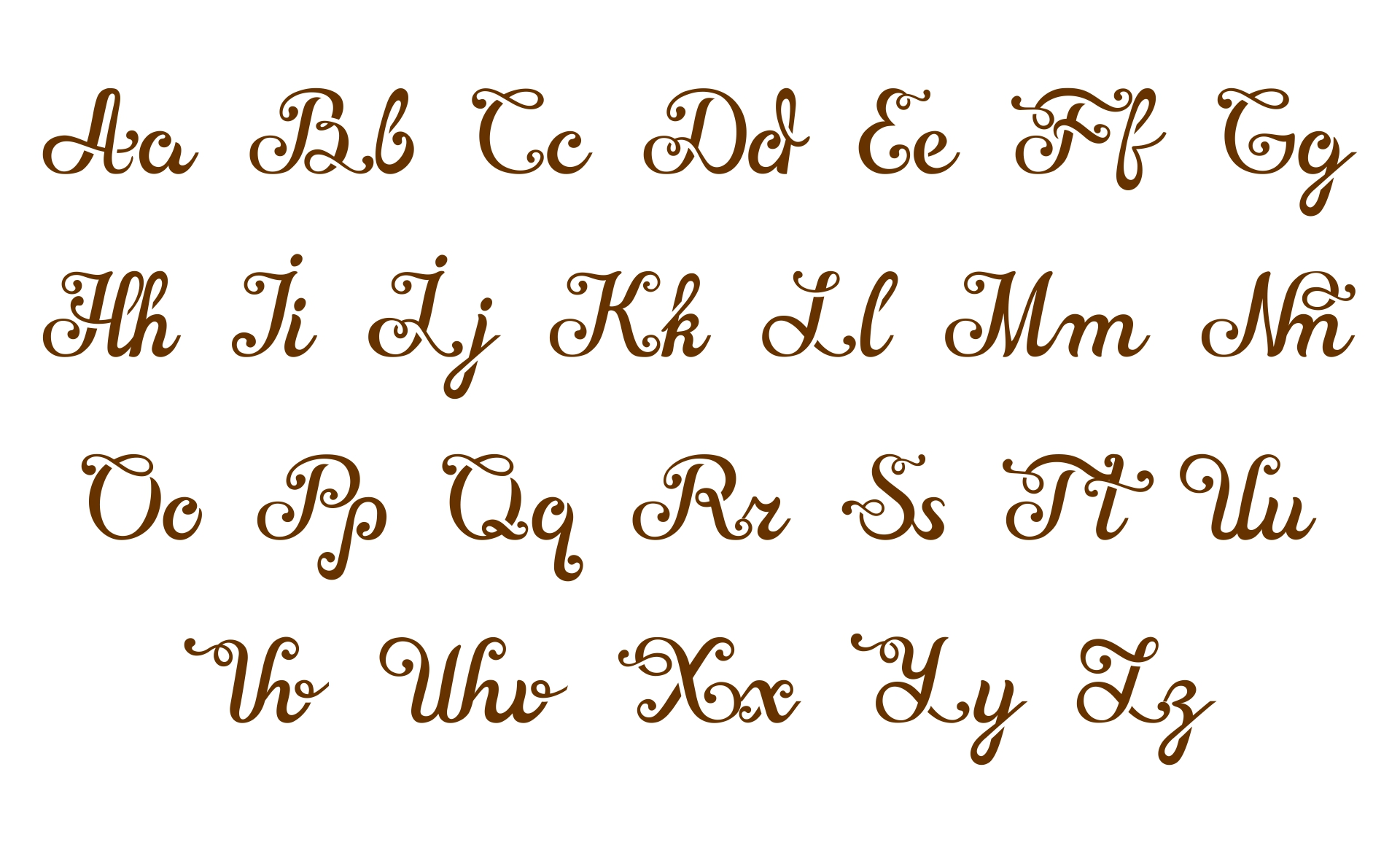 Printable Vintage Alphabet