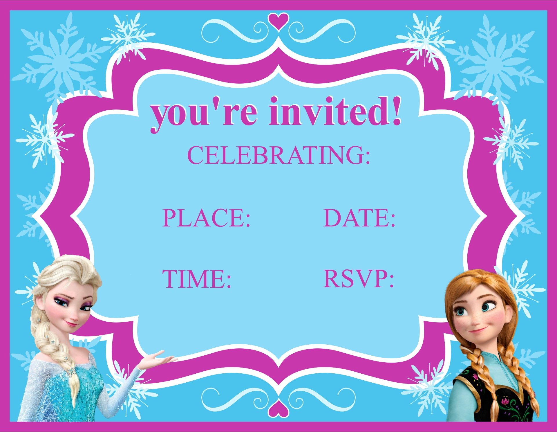 Frozen Birthday Party Printables