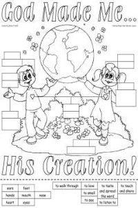 4 Images of God Made Me Printable Worksheets
