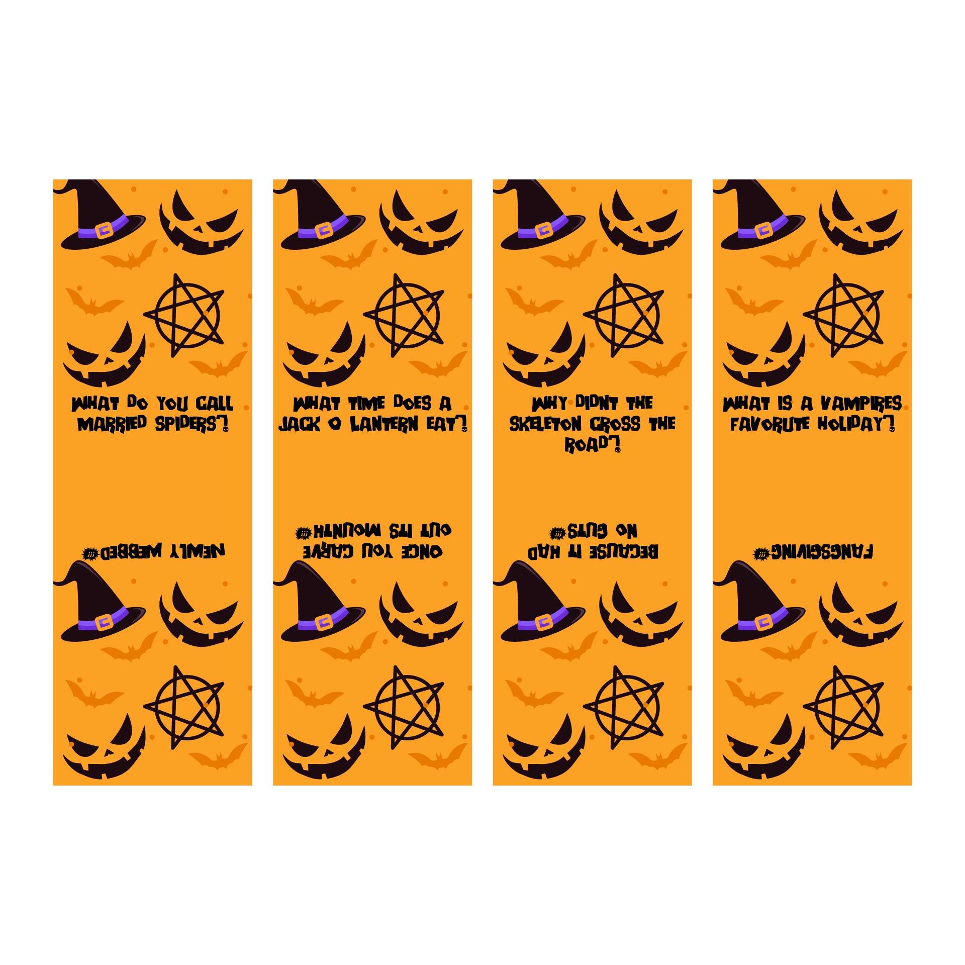 Halloween Bookmarks Jokes