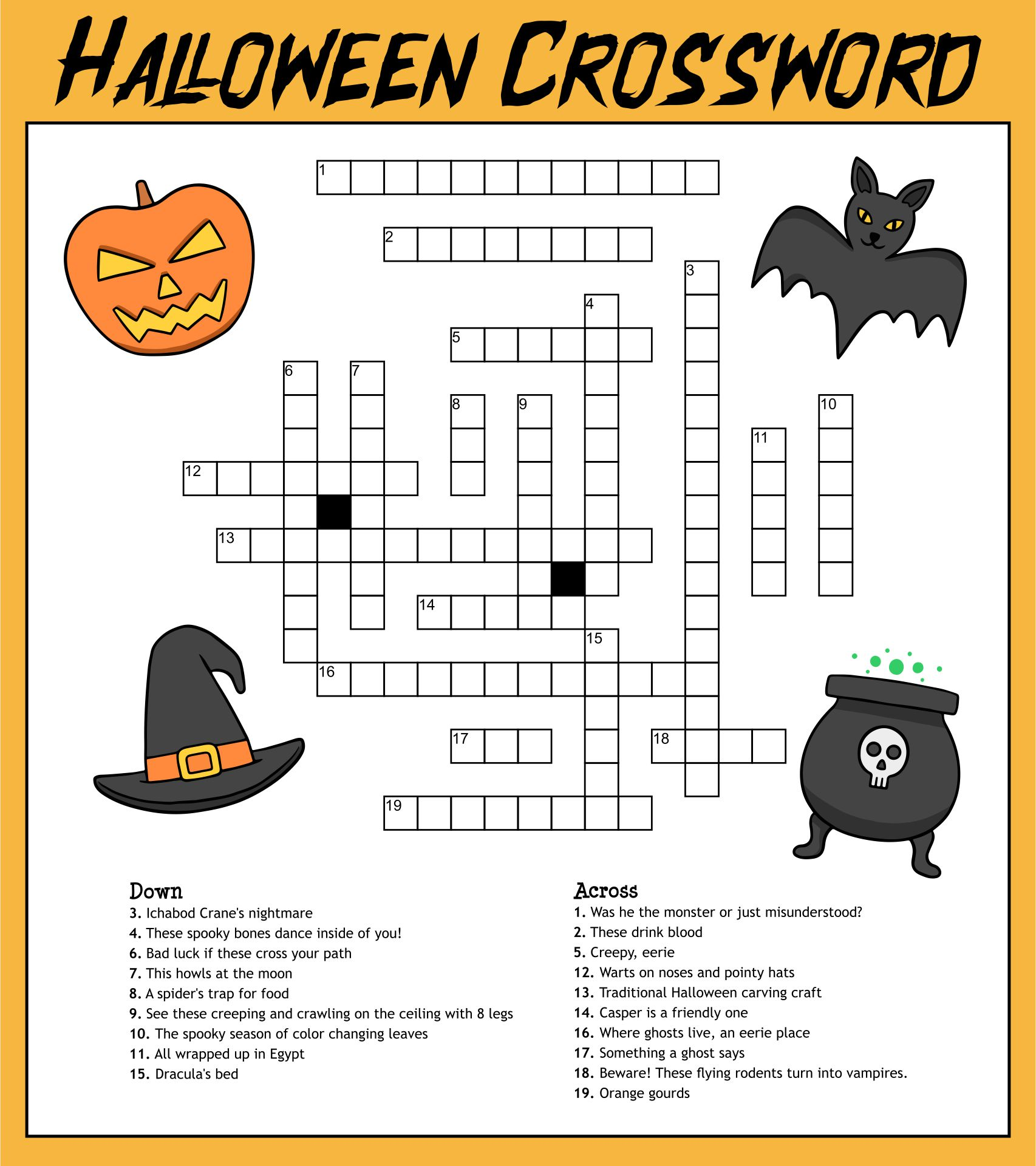 5 Images of Printable Halloween Puzzles 4th Grade
