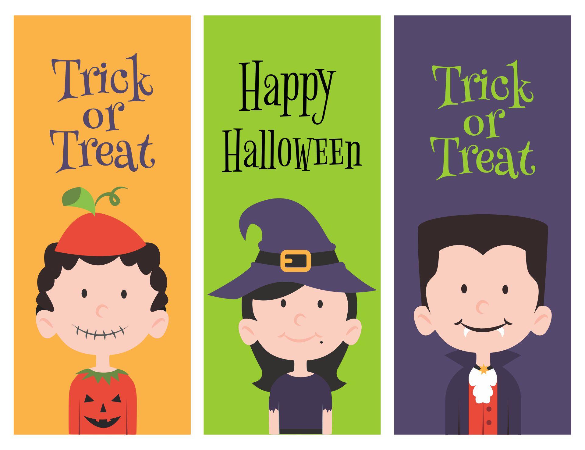 Halloween Printable Bookmarks Library
