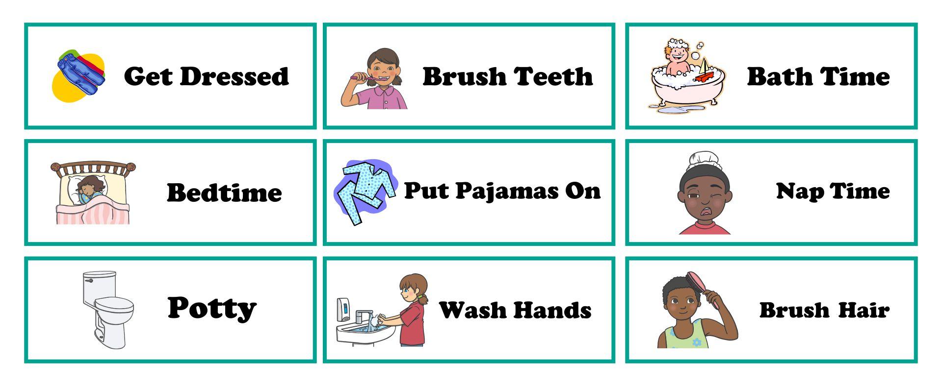 Kids Visual Schedule Printables