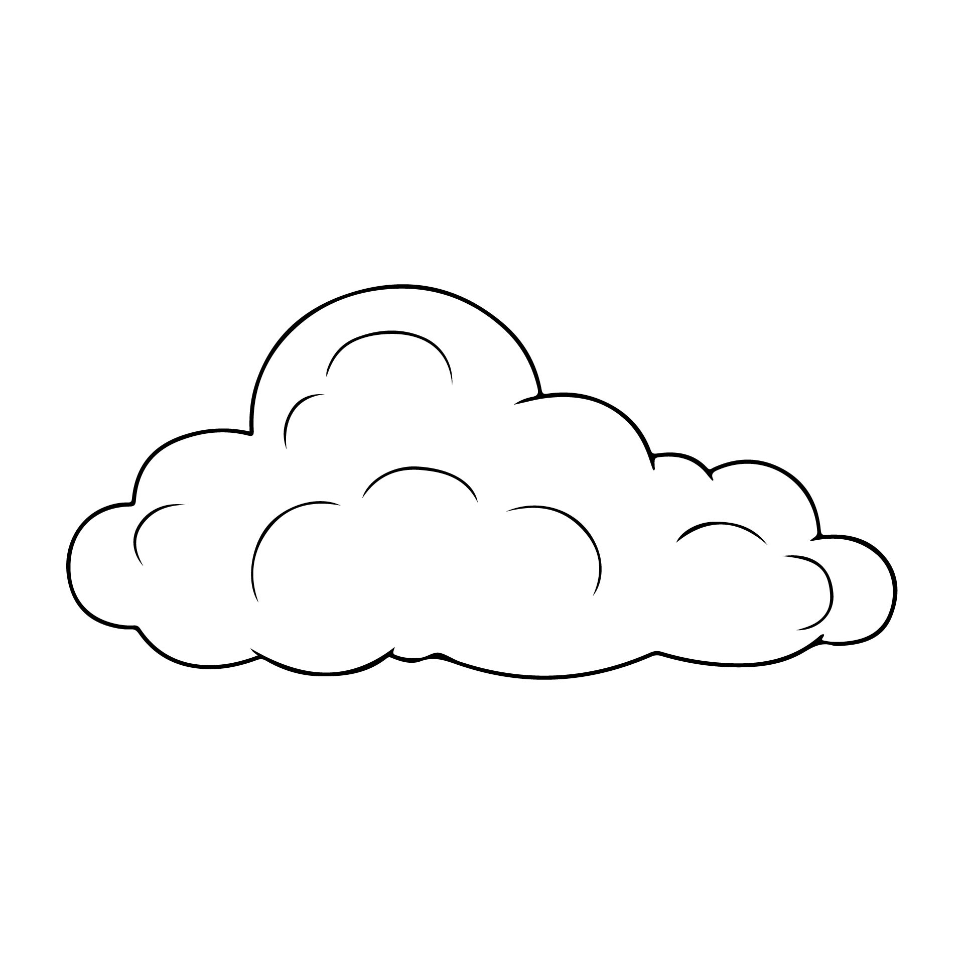6 Images of Free Printable Cloud Template
