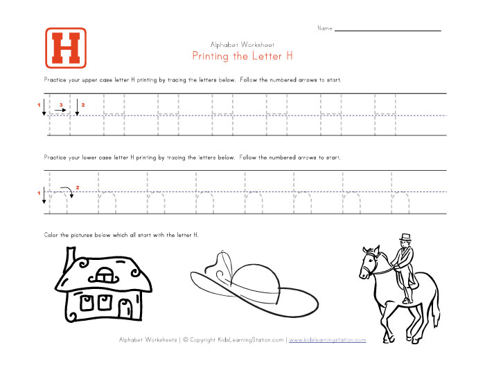 8 Images of Printable Traceable Letter H